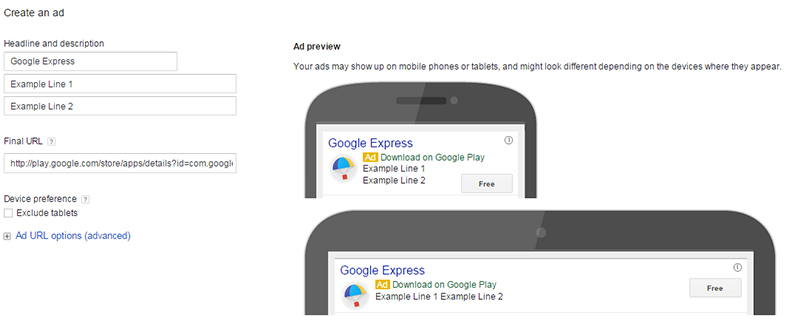 Google Play Adwords